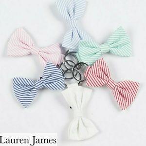 ⚡⬇️🛒 Lauren James Seersucker Bow Keychain